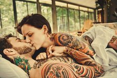 cute tatted up couple