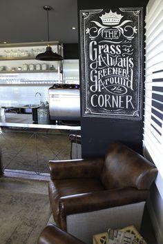 Corners on King - Feature Chalkboard