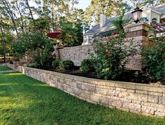 """Retaining Wall in rustic double faced wall - 3"""" and 6"""" combo - ephenry.com 2012 Product Guide 65A"""