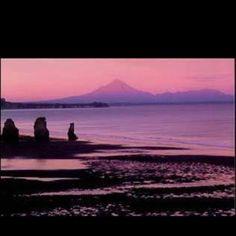 Mt Taranaki again in sunset light
