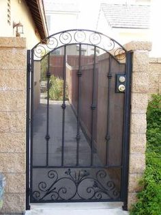 Pretty Secure Wood And Steel Front Gates   Google Search