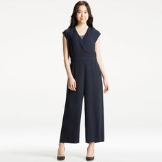WOMEN Wrap Front Jumpsuit | UNIQLO https://bellanblue.com/collections/new