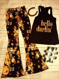 Cowgirl Gypsy FLORAL Bells Pants Yoga Lounge BELL BOTTOMS 70s fashion LARGE #Unbranded #leggings