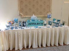 Candy table for my daughters sweet sixteen birthday