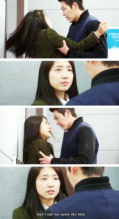 """Kim Woo Bin and Park Shin Hye ♡ #Kdrama - """"HEIRS"""" / """"THE INHERITORS"""" // The pain in Young Do's eyes."""