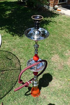 "Hookah Pipe Lebanese 41"" Hose 71"" Home Bar Shabby Flavored Tobacco ... BlingBlinky.com"