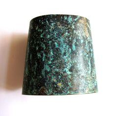 Verdigris Wrist Cuff Bracelet Turquoise Black by gimmethatthing, £18.00