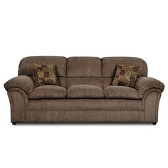 Simmons® Champion Mocha Sofa with Pillows