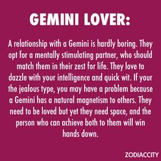 I am a gemini man
