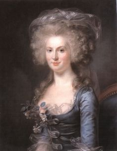 Portrait of Marie-Gabrielle Capet, 1798. by Adélaïde Labille-Guiard (1749-1803). Adelaide Labille-Guiard was the  great rival of  Elizabeth Vigée-Lebrun, but without family or artistic connections. Her skills were developed over a period of years, and she only began to exhibit her works in her late thirties.