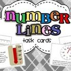 This set includes 24 number line task cards + 3 practice sheets.  Task cards include different interval number lines, thermometers, and speedometer...$
