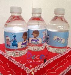 Doc McStuffins Bottled Water Labels 18 on Etsy, $10.99