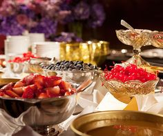 A fabulous ice-cream bar for the guests.