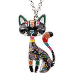 Black Cat Pendant Kitty Necklace Original For Women Girls Unique Cat Jewelry Cat Jewelry, Animal Jewelry, Women Jewelry, Cute Stationary, Dog Necklace, Unique Cats, Gifts For Teens, Necklace Designs, Girl Gifts