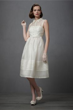 If you're a Mad Men fan and are having an informal wedding, then this is the dress for you. From the Anthropologie wedding shop: BHLDN.