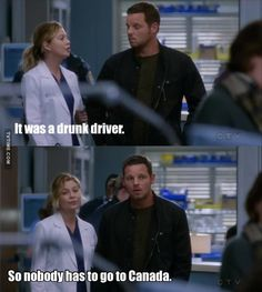 GREY'S ANATOMY S14E10 MEREDITH AND CANADA!