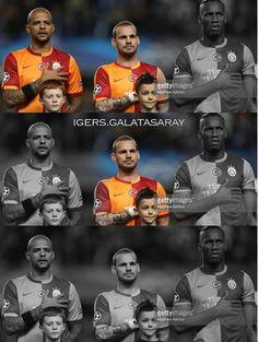 TEKER TEKER GİTTİLER.. :(( #drogba #melo #sneijder #galatasaray