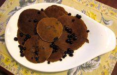 Recipe for Gluten-Free & Dairy Free Blueberry Chestnut Pancakes. Rich in Vitamin C, Fiber, & Folate.