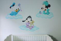 baby disney wolken muurschildering
