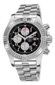 Breitling Men's Super Avenger Black Chronograph Dial