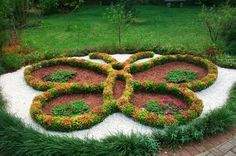 Butterfly-shaped garden