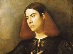 Giorgione (Castelfranco Veneto, 1478 circa – Venezia, 1510) Particolare: Ritratto di giovane, 1503 circa