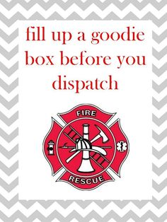 Harris Sisters GirlTalk: Firefighter - Fire Truck - Fireman Birthday Party Goodie Sign