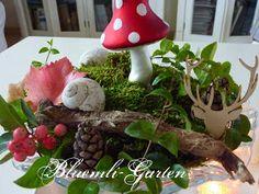 ♥♥ Bluemli-Garten ♥♥: Überall Fliegenpilze in der Herbstdekoration und erste grosse Weihnachtsbilder