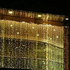 2013newestseller 300led Window Curtain Icicle Lights String Fairy Light Wedding Party Home Garden Decorations 3m*3m (Warm white)  2013newestseller $23.67