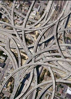 The MacArthur Maze in Oakland, Ca. - Largest freeway interchange in the world.maybe not our favorite part of Oakland. Hamilton Musical, Dallas Texas, Aerial Photography, Art Photography, Nebraska, Wyoming, Puerto Rico, Scenery, Places To Visit