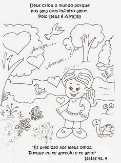 Tia Paula: Querigma para colorir Bible Coloring Pages, Sunday School, Safari, Banner, Snoopy, Christian, Activities, Comics, Anime