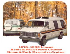 1978 - 1980 lineup retro motorhomes.