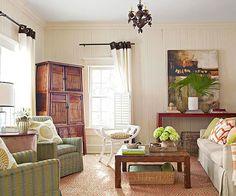 Living Room Color Scheme: Island Cottage