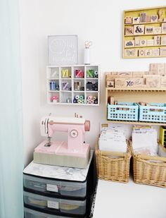 Sewing corner by Soraya Maes for We R Memory Keepers