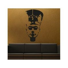 "Style and Apply Nofretete Egyptian Queen Wall Decal Size: 59"" H x 39"" W, Color: Violet"