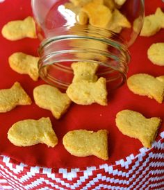 Gluten Free 2 Ingredient Goldfish Crackers.  Almond flour + cheese. Takes less than 30 minutes and these crackers are amazing!