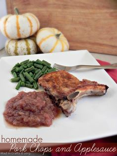 Homemade Pork Chops and Applesauce & a Giveaway ~ MAD IN CRAFTS