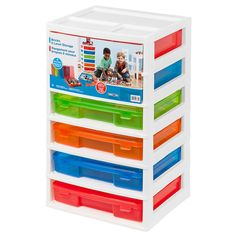 (49.99) The Bricks 6 Level Storage comes with 2 Top drawers with 1 divider tray in each (red and yellow) and 4 cases (green, blue, red & yellow)