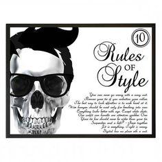 Lámina enmarcada Rules Of Style de Maison Privée