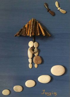 30x46 cm Love on the beach Pebble art perfect and by IOULIAArt