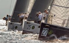 And they're off! The #SwanWorlds14 is ago this week in #PortoCervo. The 93 boats are divided into six racing categories, #Maxi, #GrandPrix, +Nautor Swan 60 , +Sparkman