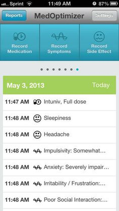 MedOptimizer ADD/ADHD For Parents - Free App to track response to medication. Keep accurate records of symptoms and side effects. (iPhone, iPad, and iPod touch)