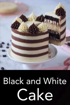 Sometimes you don t have to choose between chocolate and vanilla you can have both I took my favorite chocolate and vanilla cake recipes and combined them to make this stripy wonder from Preppy Kitchen blackandwhitecake bestcakes chocolateandvanillacake Easy Vanilla Cake Recipe, Chocolate Cake Recipe Easy, Chocolate Chip Recipes, Chocolate Chip Cookies, Homemade Chocolate, 4 Inch Cake Recipe, Chocolate Videos, Homemade Snickers, Cupcakes