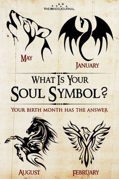 Tattoos Discover What Is Your Soul Symbol? Your birth month has the answer Wiccan, Magick, Witchcraft, Astrology Zodiac, Pisces, Aquarius, Leo Zodiac, Scorpio Symbol, Zodiac Facts
