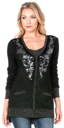 Miss Me Women's Embellished Cardigan Black Small