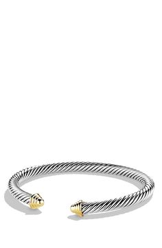 New David Yurman 'Cable Classics' Bracelet,Gold Clear Crystal fashion online. [$495]newoffershop win<<