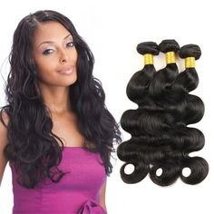 Virgin Indian Hair Bundles Indian Raw Hair Body Wave 3-pack Bundles 12 14 16 inch 10.58 Oz Total Natural Black Color Can be Dyed *** This is an Amazon Affiliate link. Check out the image by visiting the link.