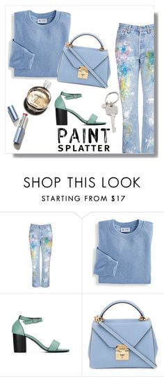 """Make a Splash With Paint Splatters"" by aria-star ❤ liked on Polyvore featuring Rialto Jean Project, Blair, Mark Cross, Chanel, Paul Smith, paintsplatter and fashionset"