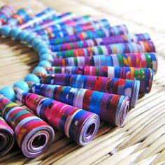 Paper beads.