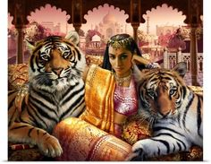 Andrew Farley Poster Print Wall Art Print entitled Indian Princess, None